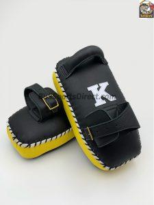 K-Kick Pads-Single Strap-Black Yellow