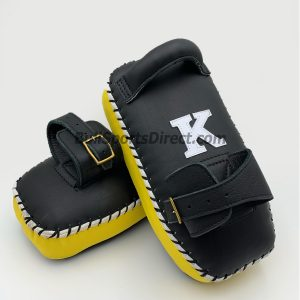 K-Kick Pads-Single Strap-Black Yellow