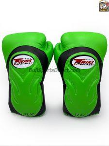 Twins BGVL-6 Black Green Boxing Gloves