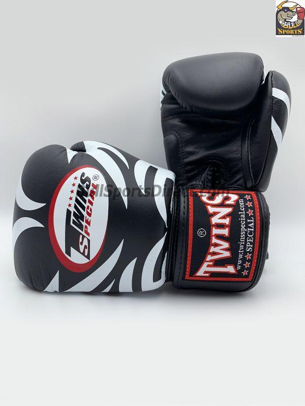 Twins Boxing Gloves-FBGV-9-Tattoo Black
