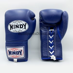 Windy Boxing Gloves BGL Lace Up Blue