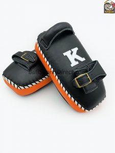K-Kick Pads-Black Orange Single Strap