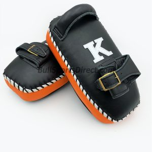 K-Kick Pads-Black Orange Single Strap