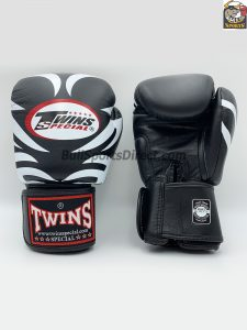 Twins Black Boxing Gloves-FBGV-9-Tattoo