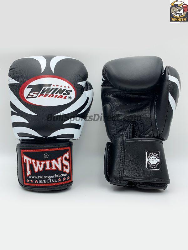 Twins Black Boxing Gloves-FBGV-9-Tattoo