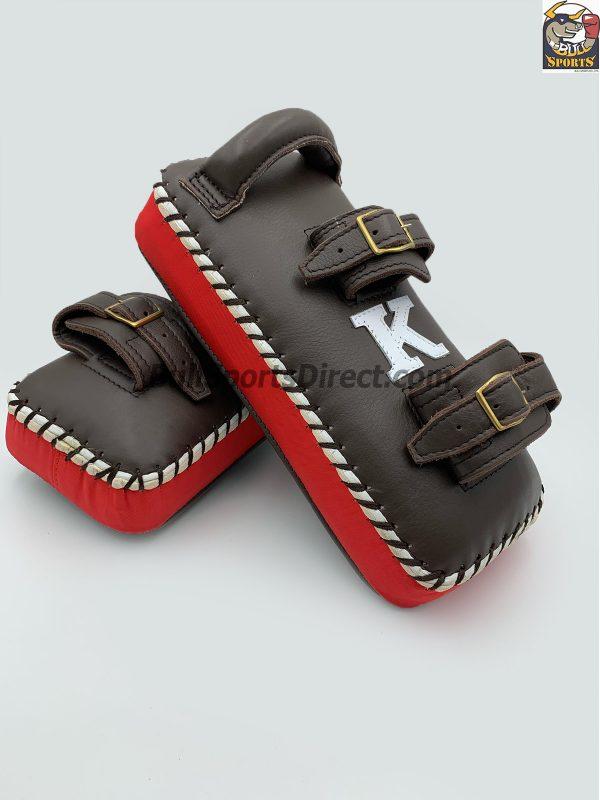 K-Kick Pads- Double Strap-Black Red