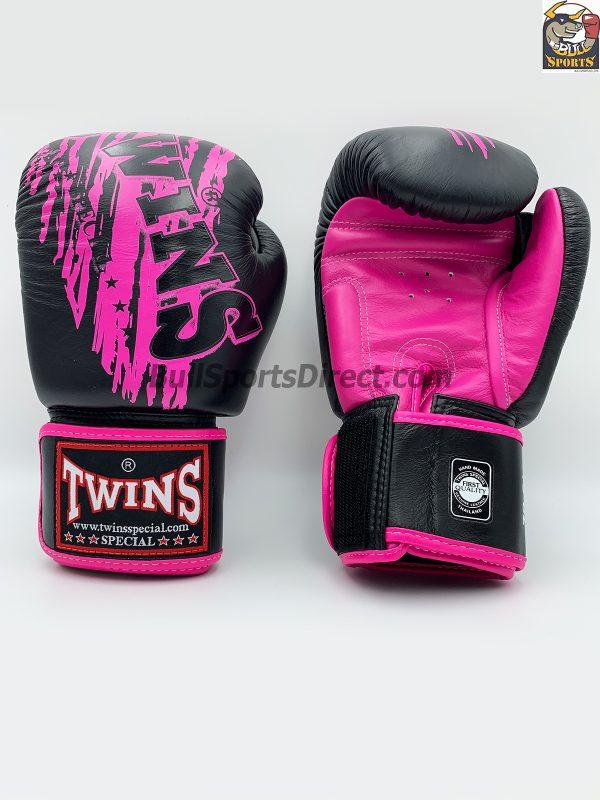 Twins FBGV-TW3 Black Pink Boxing Gloves FBGV-TW3