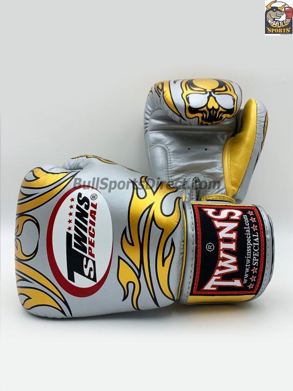 Twins Special Fancy Boxing Gloves FBGV-31 Silver Skull