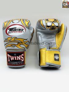 Twins Boxing Gloves-FBGV-31-Silver Skull