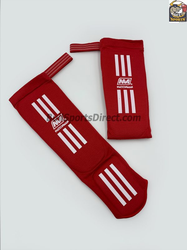 Nationman-Elastic Shin Pads-NMSP Red