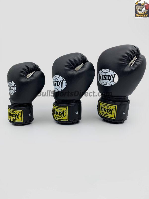 Windy Black Boxing Gloves BGVH+K
