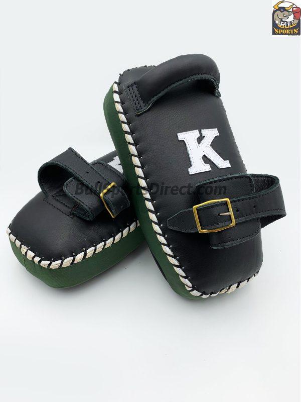 K-Kick Pads-Single Strap-Black Green