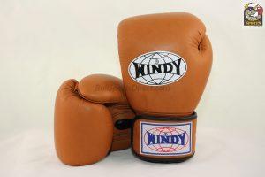 Windy Muay Thai Boxing Gloves BGVH Brown