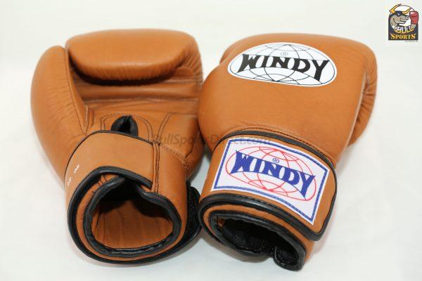 Windy Muay Thai Brown Gloves BGVH