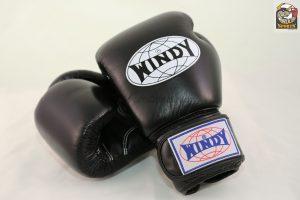 Windy Muay Thai Black Boxing Gloves BGVH