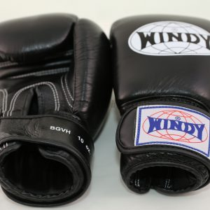 Windy Muay Thai Black Boxing Gloves BGVH