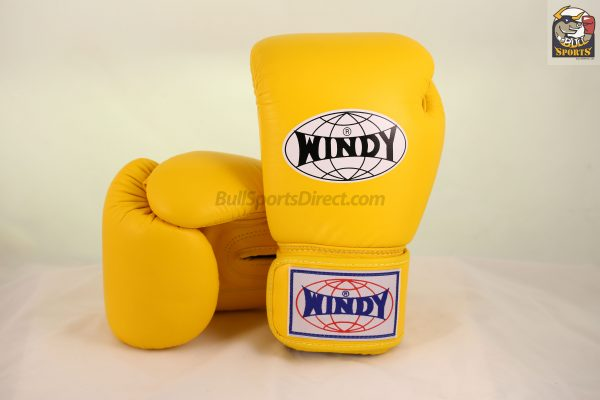 Windy Muay Thai Yellow Boxing Gloves BGVH