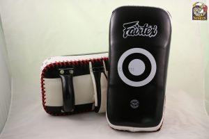 Fairtex Kick Pads-Black White KPLC2