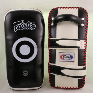 Fairtex Curved Kick Pads- -Black White KPLC2