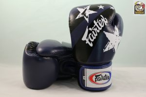 Fairtex Boxing Gloves Nation Print Blue Tight Fit