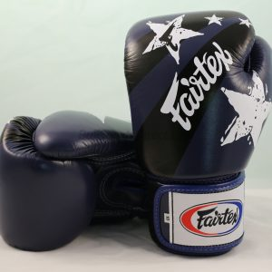 Fairtex Boxing Gloves Nation Print Blue Tight Fit