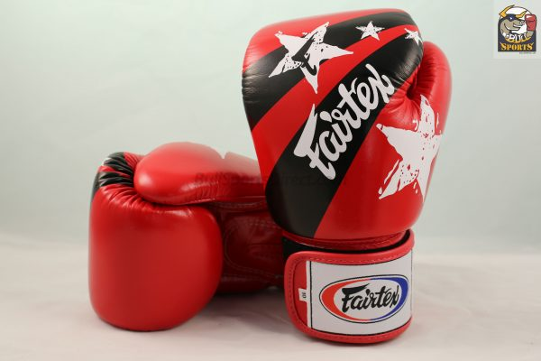 Fairtex Muay Thai Boxing Gloves Limited Edition BGV1 Red Nation Print