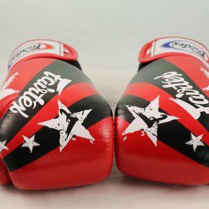 Fairtex Boxing Gloves Red Nation Print BGV1