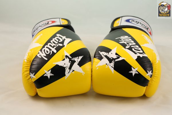 Fairtex Boxing Gloves Nation Print Yellow Tight Fit