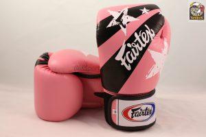 Fairtex BGV1 Pink Nation Print Boxing Gloves