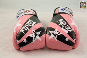 Fairtex Boxing Gloves Nation Print Pink Tight Fit