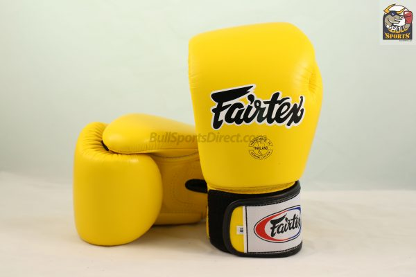 Fairtex BGV1 Tight Fit Boxing Gloves Yellow