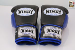 Windy Black Blue Proline Boxing Gloves