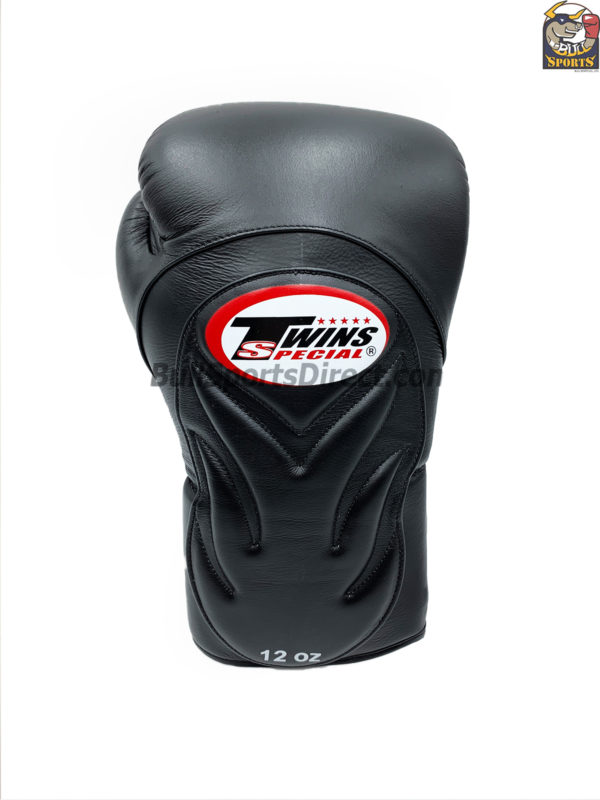 BGVL6 Twins Black Deluxe Sparring Gloves