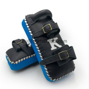 K-Kick Pads-Double Strap-Black Light Blue
