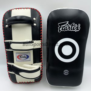 Fairtex-Curved Kick Pads Black/White