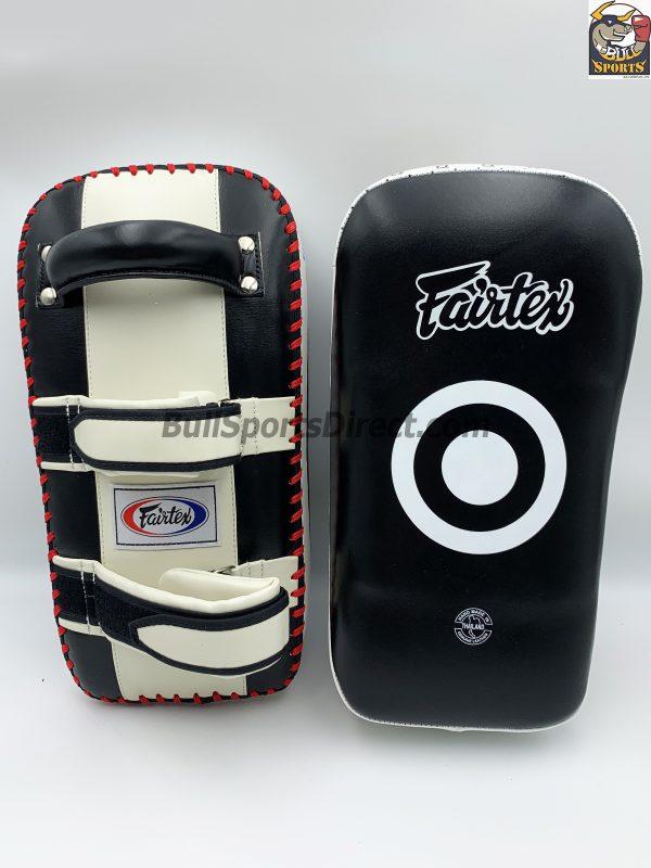 Fairtex-Curved Kick Pads Black/White