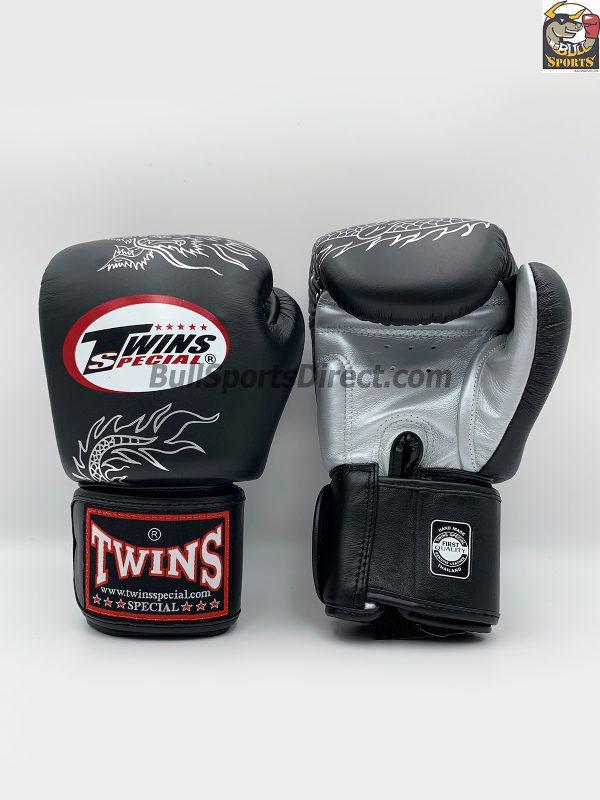 Twins Fancy Boxing Gloves FBGV-6 Black Silver