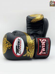 Twins FBGV-23 Dragon Body Black-Gold Muay Thai Boxing Gloves