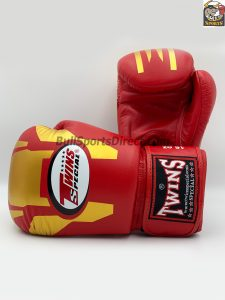 Twins Boxing Gloves-FBGV-46 Gold-Red Transformer Design