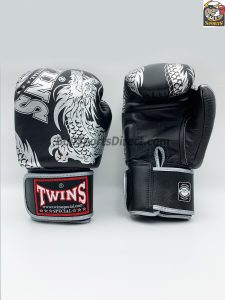 Twins Boxing Gloves FBGV-49 Silver Black