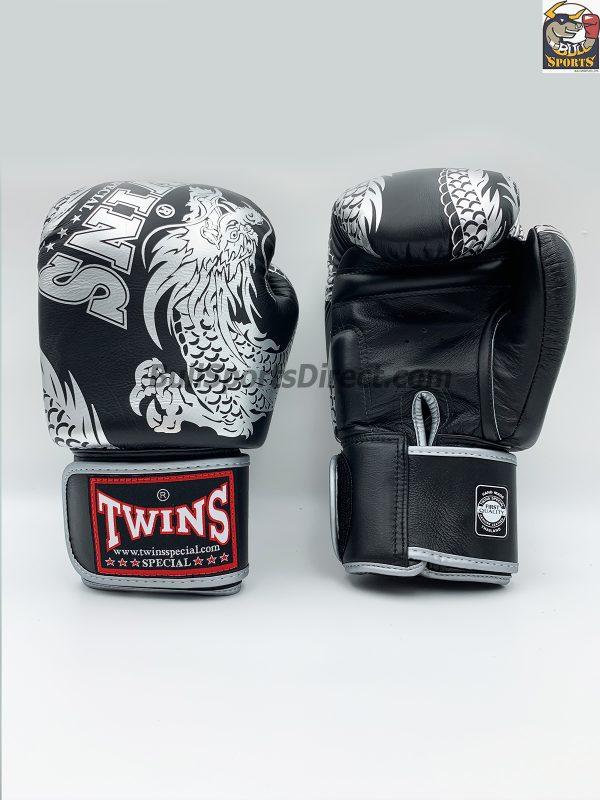 Twins Boxing Gloves FBGV-49 Silver Black