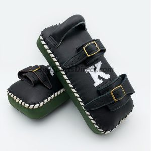 K-Kick Pads- Double Strap-Black Green