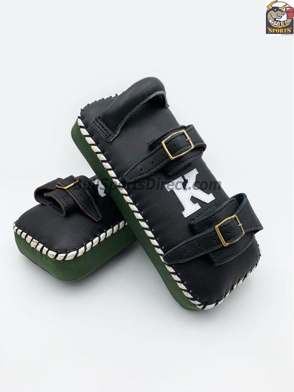 K-Kick Pads- Double Strap-Black Green