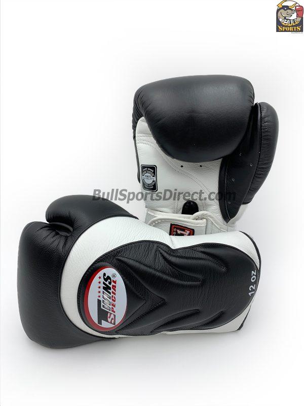 Twins BGVL-6 Black White Sparring Boxing Gloves