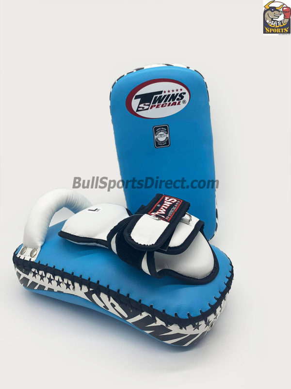Twins-KPL-12 Light Blue White Deluxe Kicking Pads