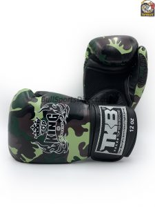 Green Top King Boxing Gloves Army series