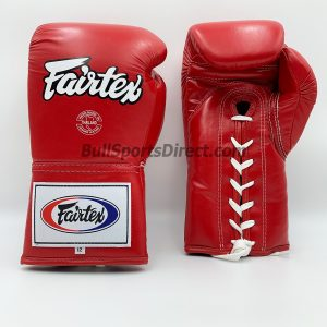 Fairtex BGL6 Lace Tie Closure Gloves, Pro Competition Model