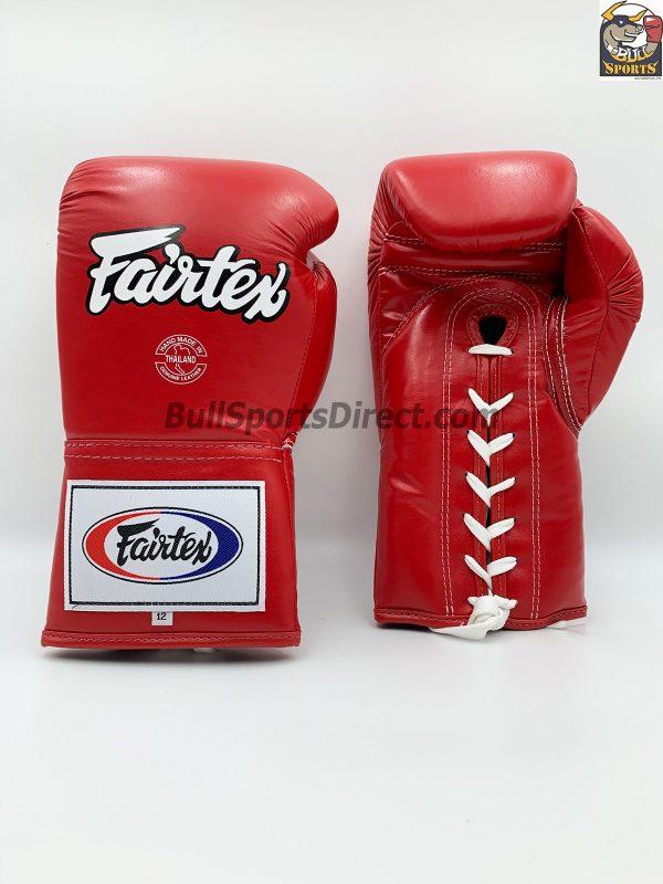 Fairtex BGL6 Lace Tie Closure Gloves, Pro Competition Model