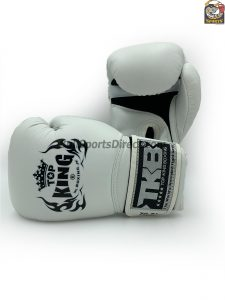 Top King Boxing Gloves Air White