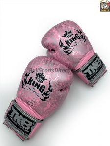 Pink and Silver Top King boxing gloves Super Snake